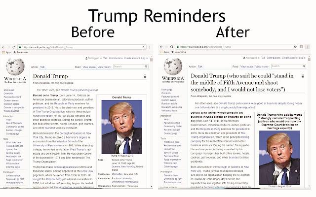 Trump Reminders