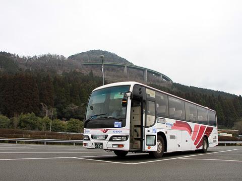 西鉄高速バス「フェニックス号」 9909 えびのPAにて_05