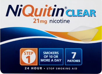 NiQuitin Clear Step 1 21mg Patch - 7 Patches