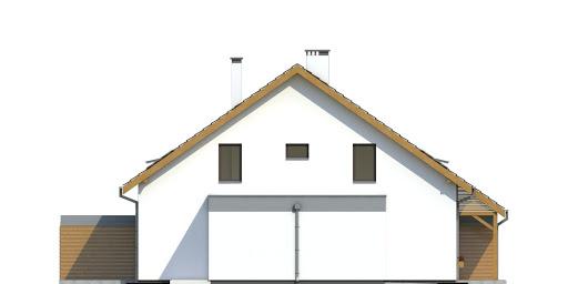 Azalia z garażem 1-st. bliźniak A-BL2 - Elewacja lewa