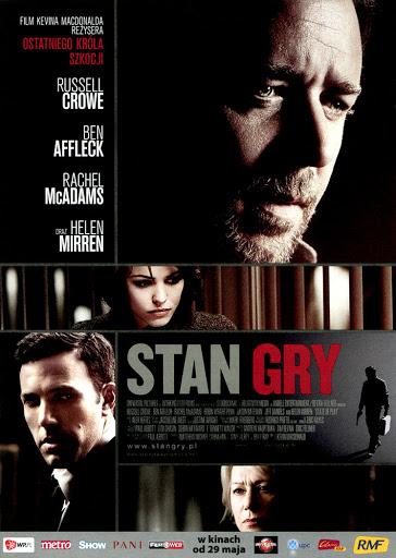 Przód ulotki filmu 'Stan Gry'