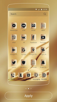 Elegant gold Theme Gold deluxe - screenshot