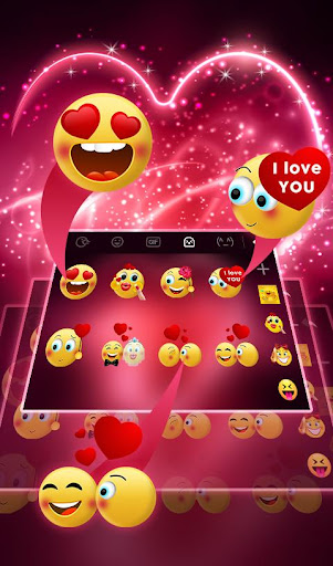Live Neon Red Heart Keyboard Theme 6.2.22.2019 app download 1