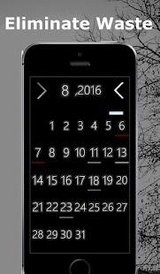 Simple calendar *DeepBlack - náhled