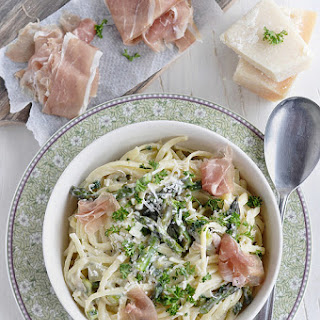 Pasta With Italian Ham and Asperagus