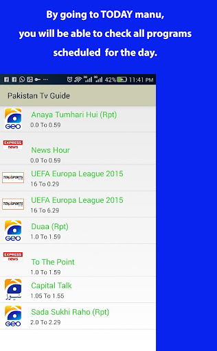 玩免費娛樂APP|下載Pakistan Tv Guide - Scheduler app不用錢|硬是要APP