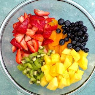 Summer Fruit Salad with Honey Lime Dressing.