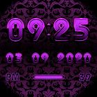 A-PURPLE Digital Clock Widget icon