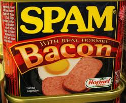 Photo: SPAM.  Hate spam, love bacon? What are you going to do now?