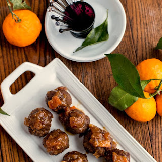 Party Meatballs with Date and Orange Glaze