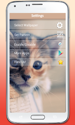 android Kitty Cat Pattern Lock Screenshot 6