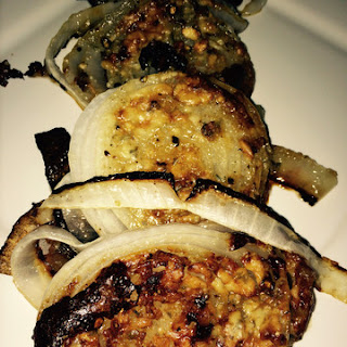 Blue Cheese Roasted Onions
