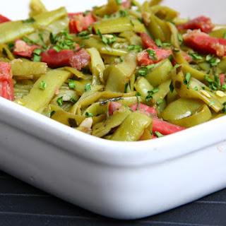 Sautéed Green Beans and Sausage.