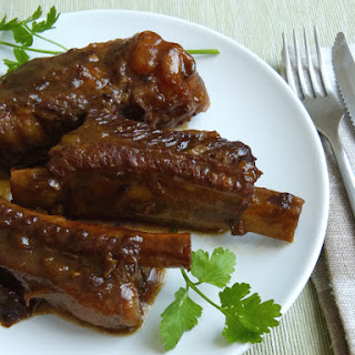 Sticky Pork Ribs with Dissolved Apple and Prunes - Paleo, AIP