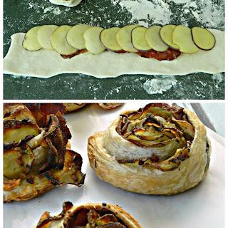 Creamer Potato & Bacon Puff Pastry Rosettes