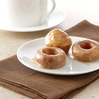 Mini Baked Donuts with Maple Glaze.