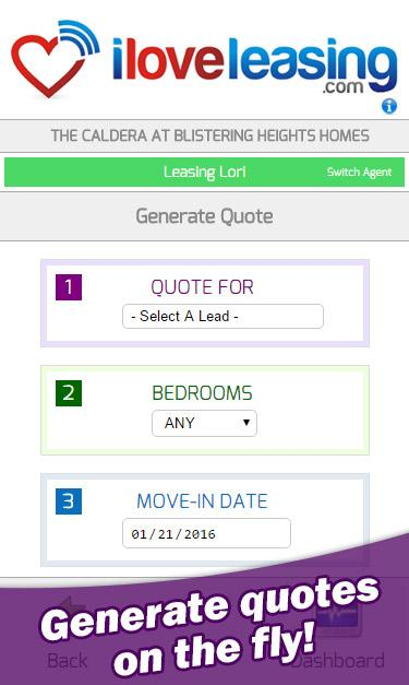 ILoveLeasing Mobile Companion- screenshot