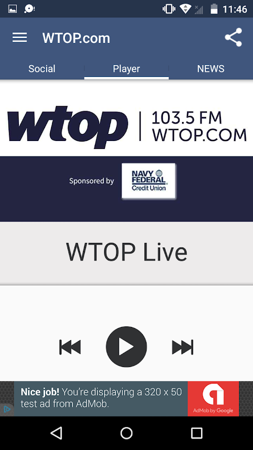 Listen to WTOP- screenshot