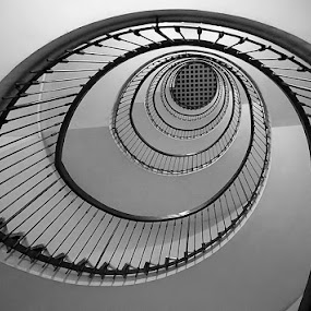 Spiral staircase by Zdenka Rosecka - Black & White Buildings & Architecture (  )