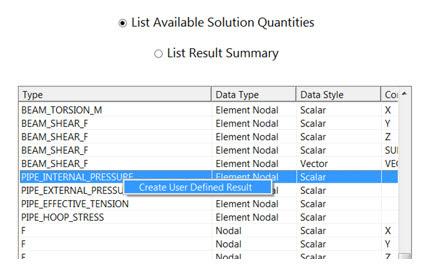 ANSYS - Типовые результаты для балочных элементов