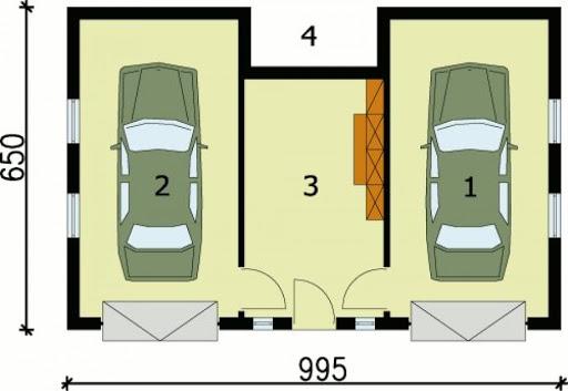 G77 - Rzut garażu