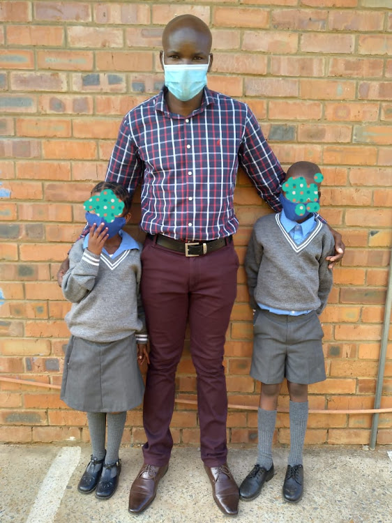 Det-Sgt Andrew Ntlhati has been offering care and support to three siblings in a child neglect case in Jan Kempdorp, securing admission for the eight-year-old girl and 11 year-old boy at a local primary school.