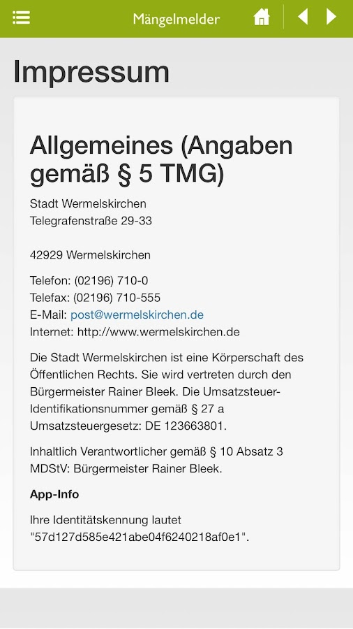 Mängelmelder Wermelskirchen- screenshot