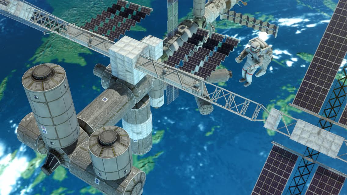 3D Space Walk Astronaut Simulator Shuttle Game