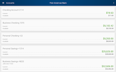 First American Bank Mobile screenshot 5