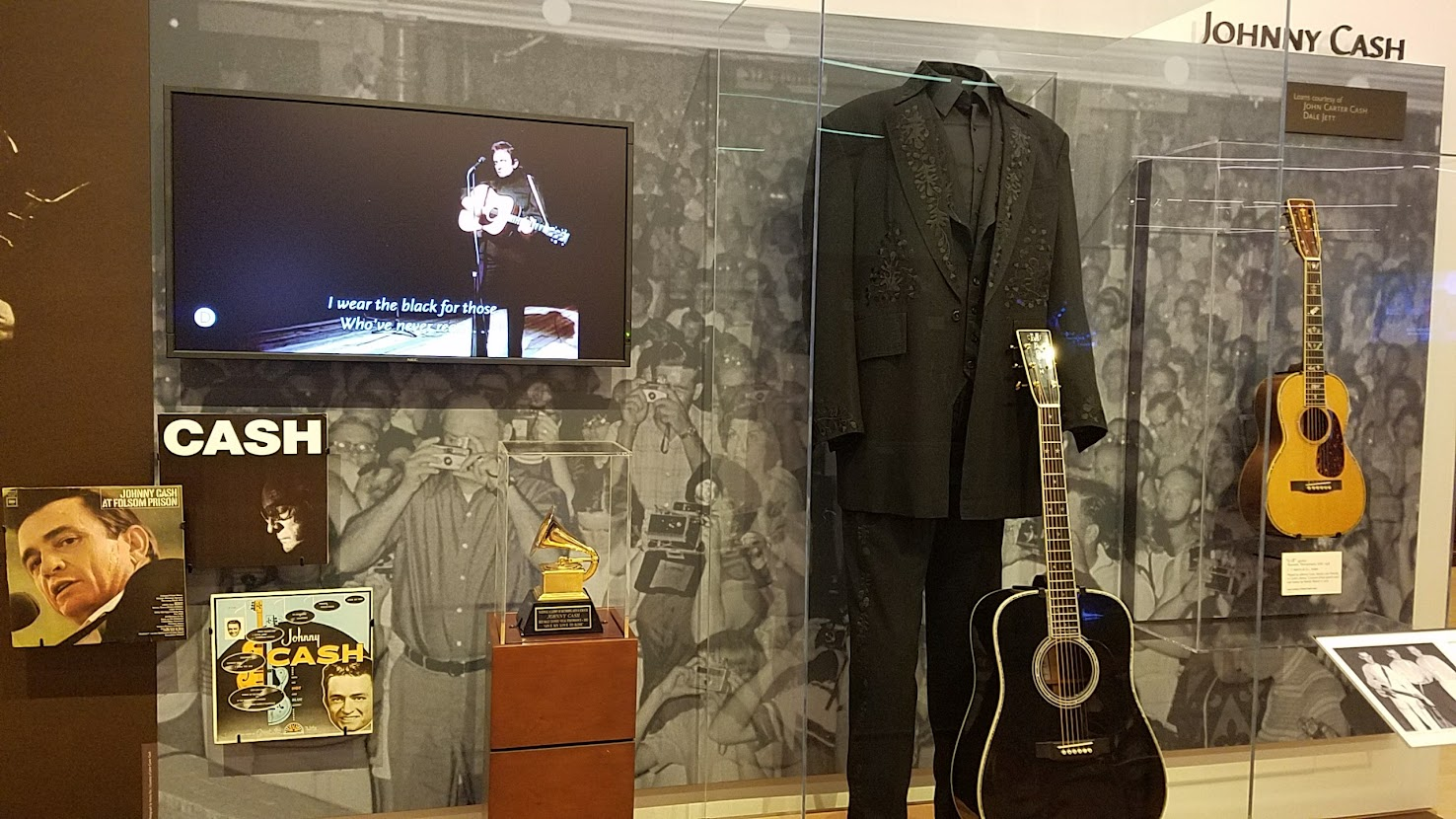 Music Instrument Museum (MIM) exhibit on contemporary music icons included Johnny Cash