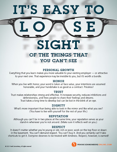 It's Easy to Lose Sight of the Things That You Can't See
