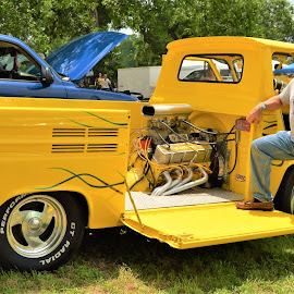 Lemonator by Benito Flores Jr - Transportation Automobiles ( cars, yellow, temple, texas, car show, people )