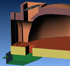 Photo: principe de la double porte: une porte en vitro-céram , ici vers l'intérieur du four. une porte plus conventionnelle a l'entrée , pour une isolation supplémentaire