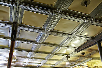 Photo: A wonderful vintage tin ceiling