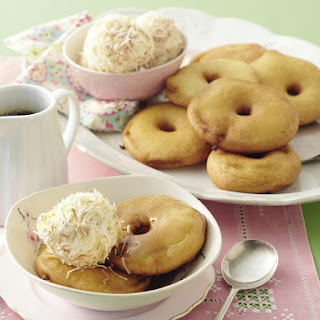 Apple Fritters with Coconut Ice-Cream.