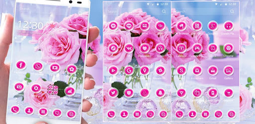 Приложения в Google Play – розовая роза тема <b>pink rose</b>