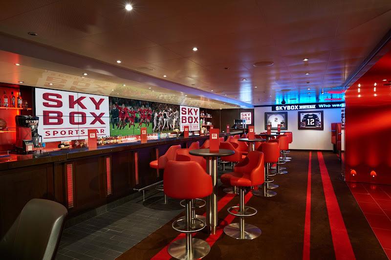 Follow your teams on Carnival Vista at the Skybox sports bar.