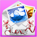 Love cards and letters icon