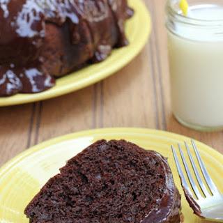Easy Chocolate Sour Cream Bundt Cake.
