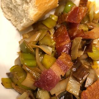Leeks, Eggs and Bacon.