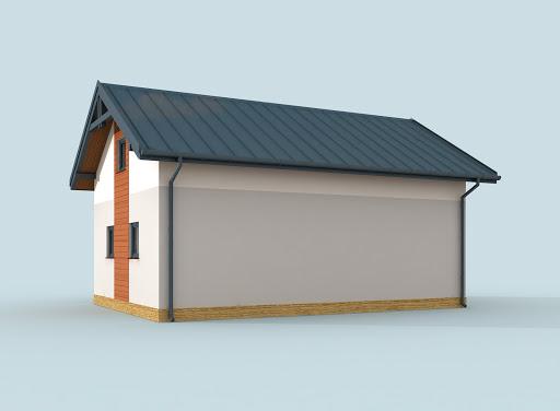 projekt G295 szkielet drewniany garaż dwustanowiskowy z poddaszem użytkowym