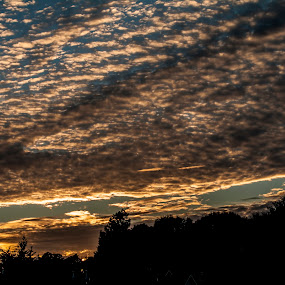 Sunset in Clouds by Frank Matlock II - Landscapes Sunsets & Sunrises ( clouds, colorful, sunset, relaxing, surreal )