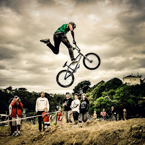Dont let go! by Graeme Carlisle - Sports & Fitness Cycling ( flying, extreme, bike, bmx )