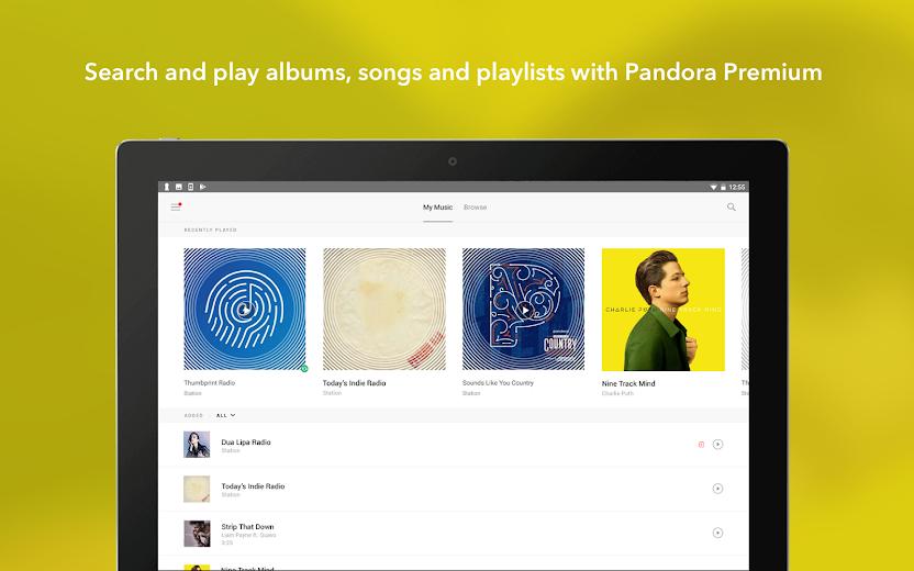 Screenshot 8 for Pandora's Android app'