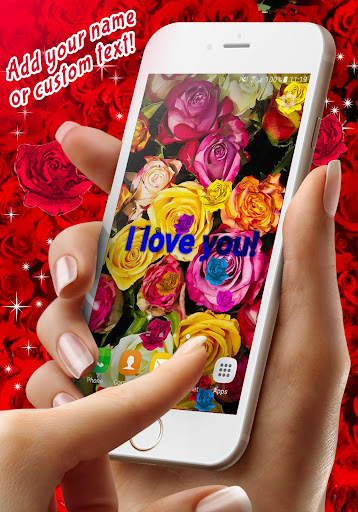 Red Rose ud83cudf39 Diamond Shine Live Wallpaper screenshots 1