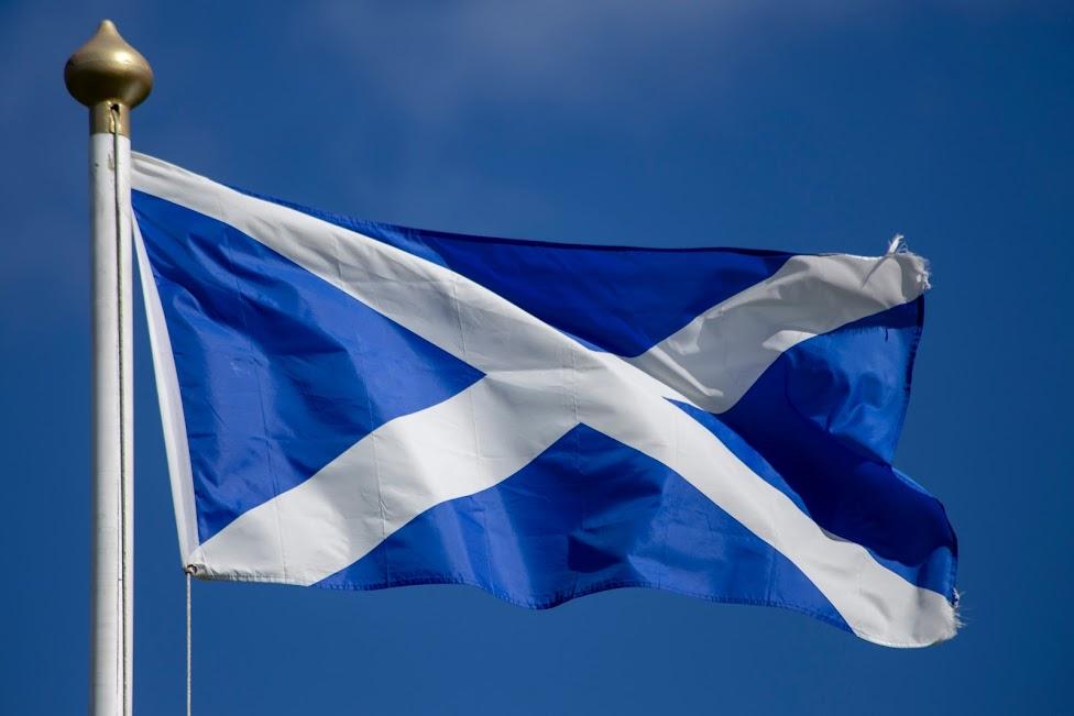 Szkocja, flaga, Saltire