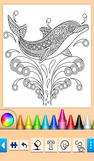 Dolphin and fish coloring book 14.0.4 screenshots 3