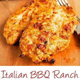 Italian BBQ Ranch Grilled Chicken.
