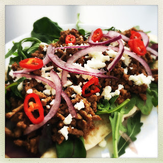 Spicy Lamb Pitta with Feta and Herbs Recipe