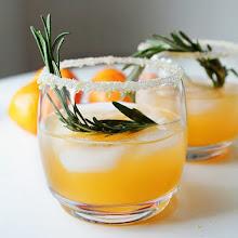 Photo: winter sun: vodka .triple sec.clementine .lemon .rosemary